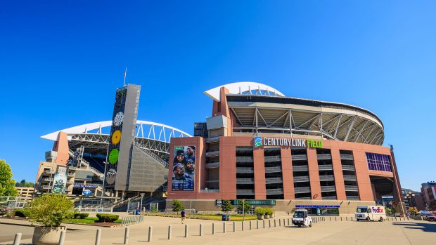 Una vista del CenturyLink Field, sede dell'Halo World Championship.