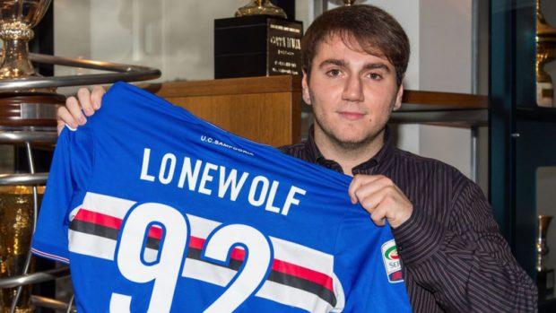 """Mattia """"Lonewolf92"""" Guarracino, attualmente sotto contratto con la Sampdoria"""