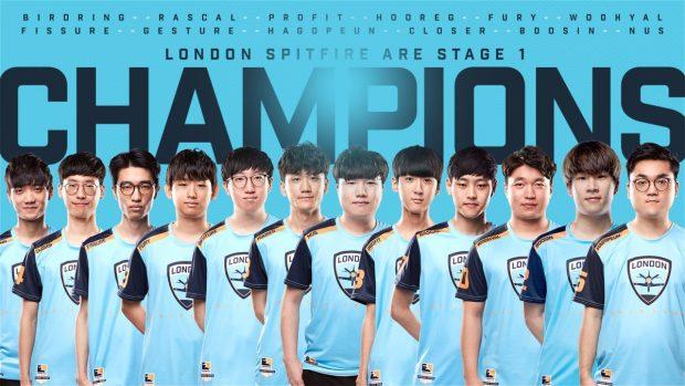 Un'immagine dei London Spitfire, tra i favoriti per la vittoria al campionato mondiale.