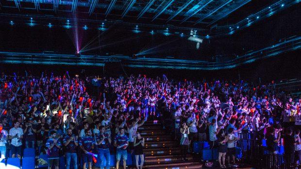 Il colpo d'occhio garantito del Teatro 1 di Cinecittà World è un buon viatico per gli eSports italiani.