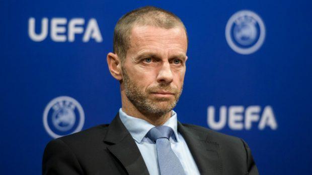 Il presidente di UEFA, Aleksander Čeferin.