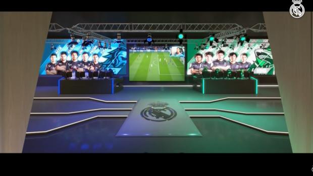 Nel video concept diffuso dal Real Madrid è ben visibile l'area dedicata agli eSports.